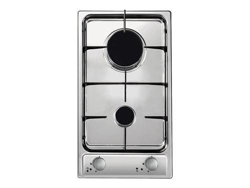 Candy CDG 32/1 SPX - Table de cuisson au gaz - 2 plaques de cuisson - acier inoxydable