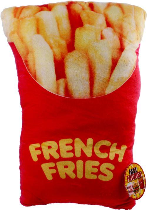 Kamparo coussin Fast Foodies frites 30 cm rouge/jaune