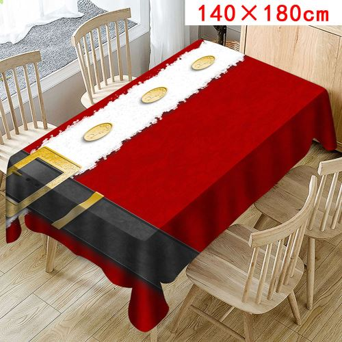 Nappe de Noël Imprimer Rectangle Table Cover Holiday Party Home Decor_Kiliaadk352