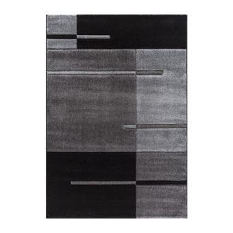 Nazar Tapis Fibres Synthetiques Gris 230x160 Cm Achat Prix Fnac