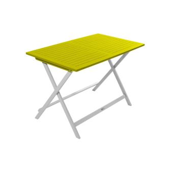 Table de jardin pliante rectangulaire BURANO CITY GREEN Vert anis ...