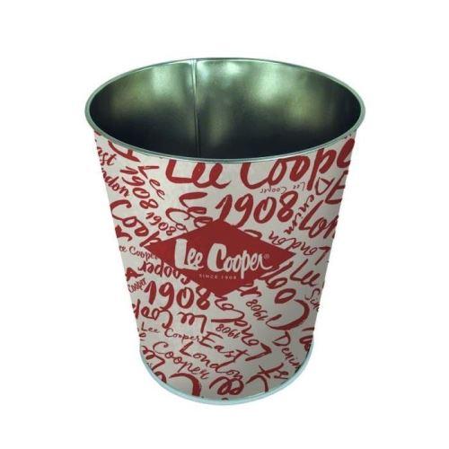 Pierre henry lee cooper corbeille conique - décor original - en métal - classé non feu m1 - 7,5 l - imprimé vernis brillant