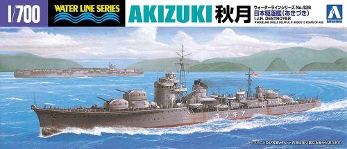 WATERLINE No. 426. JAPANESE NAVY DESTROYER AKIZUKI Scale:1/700
