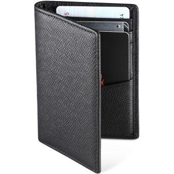 Porte Carte Homme Portefeuille en Cuir Noir RFID Blocage Porte Carte de Cr/édit