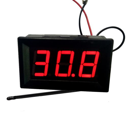Thermomètre XH-B302 12V -50 ~ 110 ℃ Avec sonde-noir