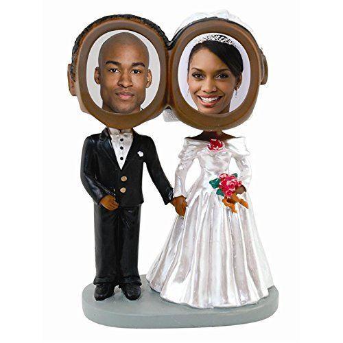 Neil Enterprises, Inc Photo De Couple De Mariage Bobble Heads - Ton Peau Foncé