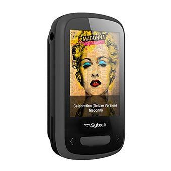 'SYTECH sy791ng - Lecteur MP3/MP4 (Bluetooth V 4.0, LCD/TFT couleur 1,8 pouces, FM numérique, 8 Go, micro-sD Max 32 GB, batterie de lithium 300 mAh), noir