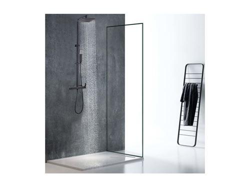 Colonne de douche thermostatique en acier inoxydable PENEDA - 125cm - noire mat