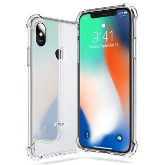 Coque iPhone X Houe iphone X en Silicone renforce Shockproof anti choc couleur transparente souple et flexible Compatible avec l iphone Xde Vshop