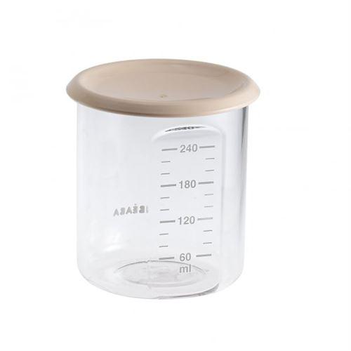 Pot de conservation maxi portion 240 ml nude - beaba