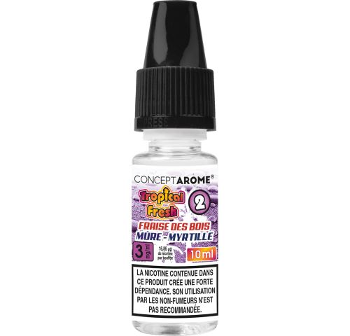 Conceptarôme - E-liquide Tropical Fresh N°2 – 3 mg.