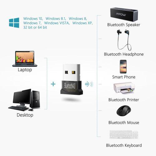 Alpexe Adaptateur USB Bluetooth 4.0, Clé