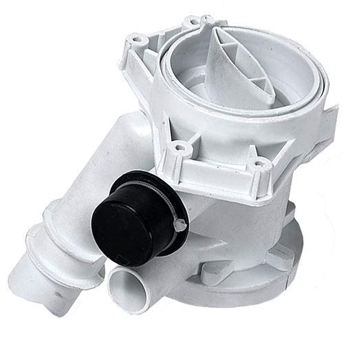 Corps de pompe avec filtre Lave-linge 49002227 CANDY, HOOVER, IBERNA, FAGOR, PHILCO, OSTEIN, THOMSON, ZEROWATT - 234158