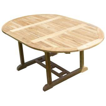 Table SAWAH Ronde/Ovale120-180x120x75 Teck Premium
