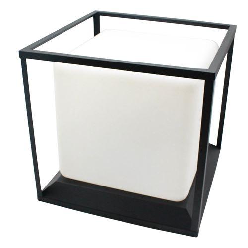 Lampe solaire et rechargeable à poser structure métal LED blanc/multicolore HEAVY SKIN H37cm
