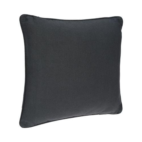 Coussin passepoil - 45 x 45 cm - Gris