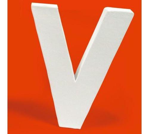 Lettre en carton V
