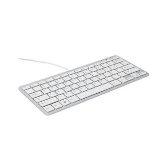R Go Clavier Compact, AZERTY (FR), blanc, filaire R Go Tools