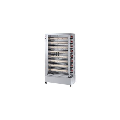 Rôtissoire électrique vitro-céramique, 8 broches, 40 à 48 poulets - EKO