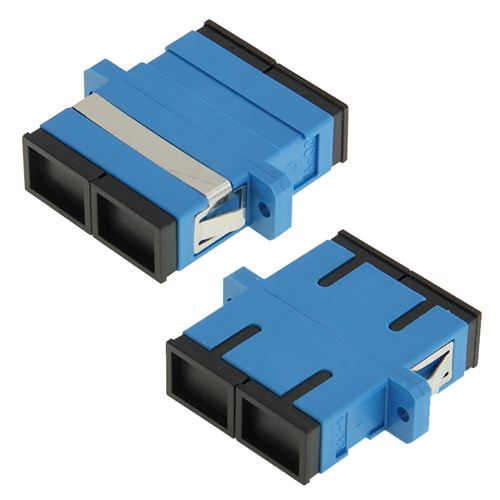 (#26) SC-SC Multimode Duplex Fiber Flange / Connector / Adapter / Lotus Root Device(Blue)