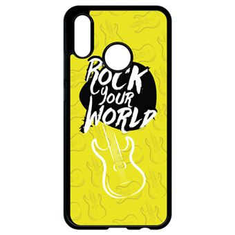 Coque Huawei P20 Lite Rock Your World Fond Jaune