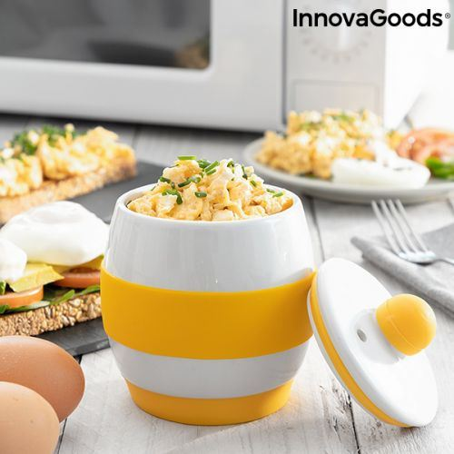 Coquetiers en céramique pour micro-ondes avec recettes Eggsira InnovaGoods