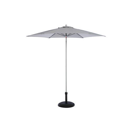 Parasol droit rond Anzio - Diam. 230 cm - Gris ardoise