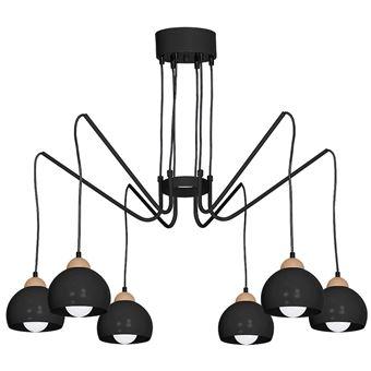 Lumière Plafonnier Noir Dama Pendante Lampe Suspension 6 txoQdsChrB