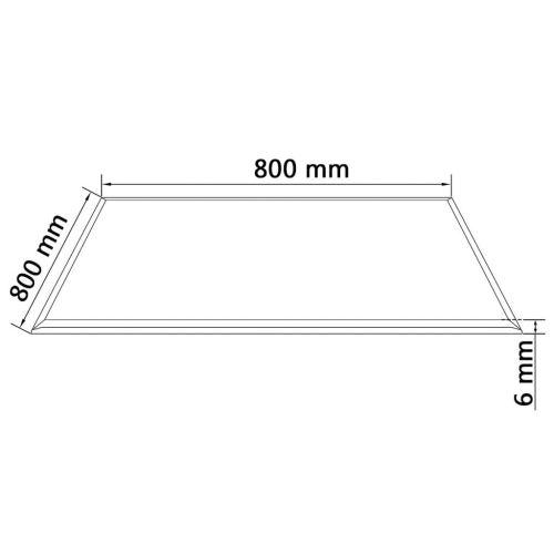 KKmoon Dessus de Table Carré en Verre Trempé de Facile à Nettoyer 800 x 800 mm Noir
