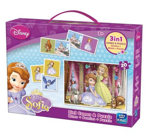 King Disney Sofia The First - 3 Jeux et Puzzles