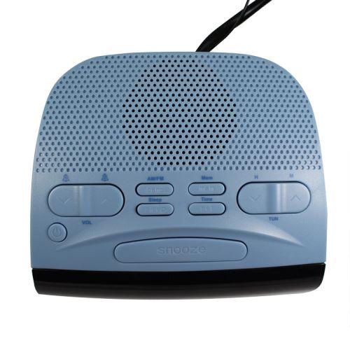 METRONIC Radio réveil AMFM double alarme bleu Duo colors 477033