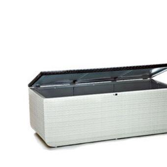 coffre de rangement tanche pour ext rieur en r sine blanche mobilier de jardin achat prix. Black Bedroom Furniture Sets. Home Design Ideas