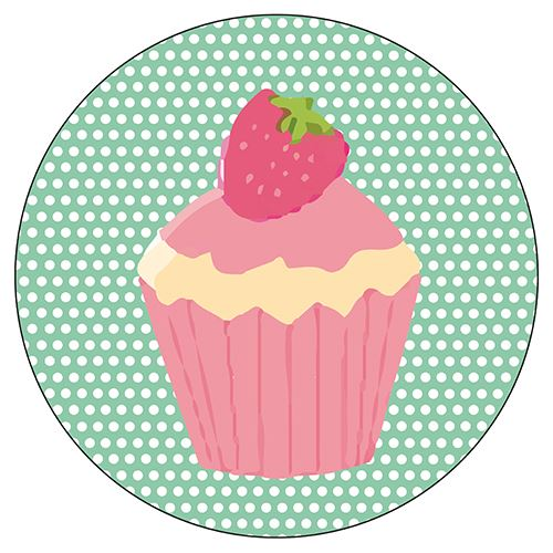 Set de 4 dessous de verres ronds Cupcakes by Cbkreation