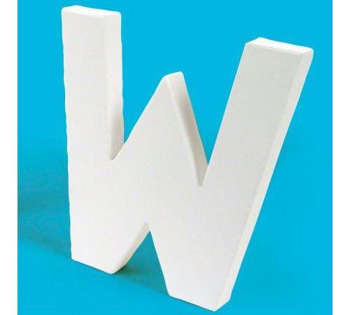 Lettre en carton W