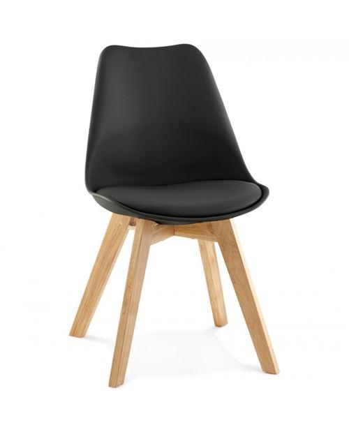 Chaise design TYLIK BLACK 48x56x83 cm
