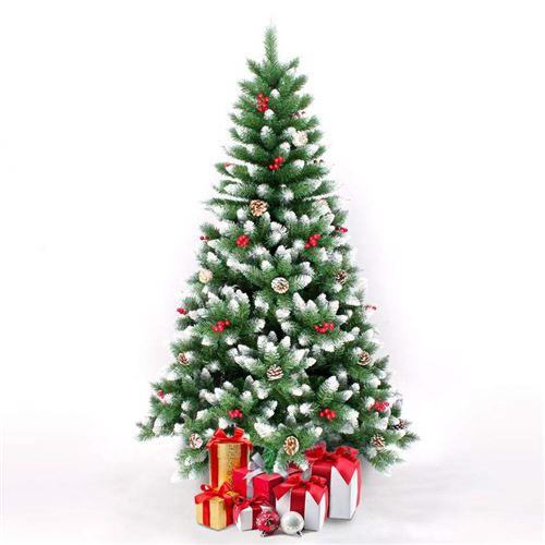 Sapin de Noël artificiel 210 cm avec des décorations ROVANIEMI