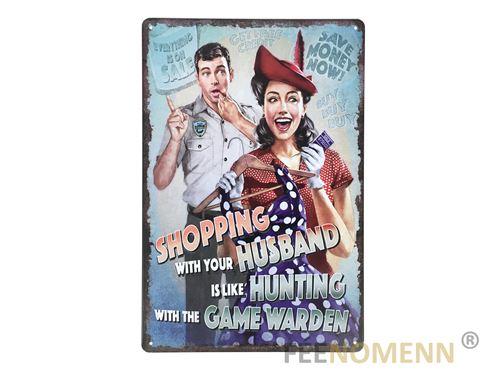 plaque métal déco vintage - effet relief - pompe à essence 66 - gas station los angeles (32x25cm)