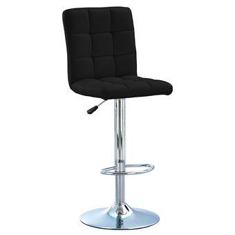 code promo 0caea 0f7a3 Tabouret de bar pivotant chaise haute de bar ralph noir