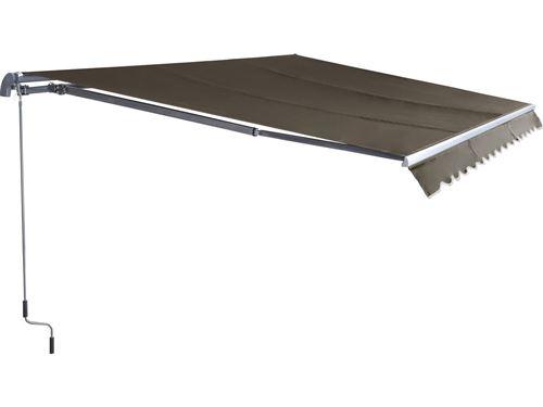 store banne en aluminium ombra 3 - 4 x 2.50 m - taupe