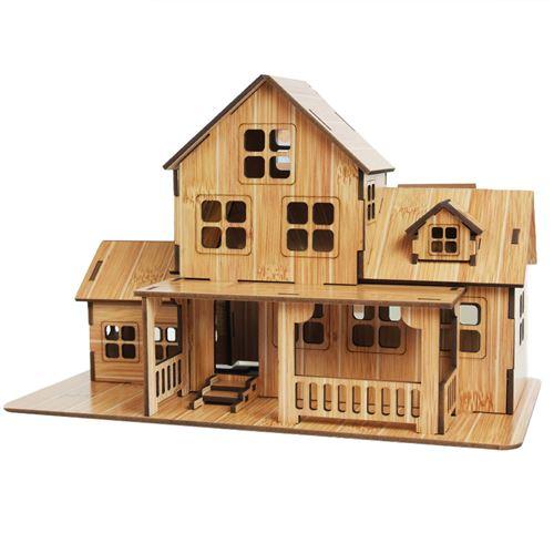 Puzzle 3D bricolage maison villa pour enfants 01 - Multicolore