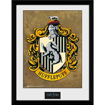 Harry potter poster de collection encadr poufsouffle blason 40x30 cm poster affiche - Harry potter blason ...