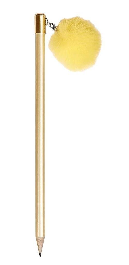 Moses crayon avec pompon 17,8 cm jaune pastel