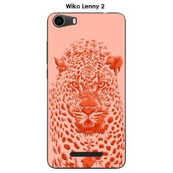 Coque Wiko Lenny 2 design Jaguar rose orange