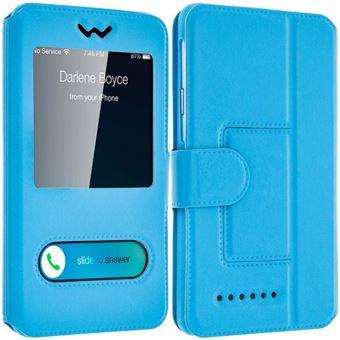 Housse Folio 2x Fenetres Bleu Turquoise Pour Acer Liquid Z220
