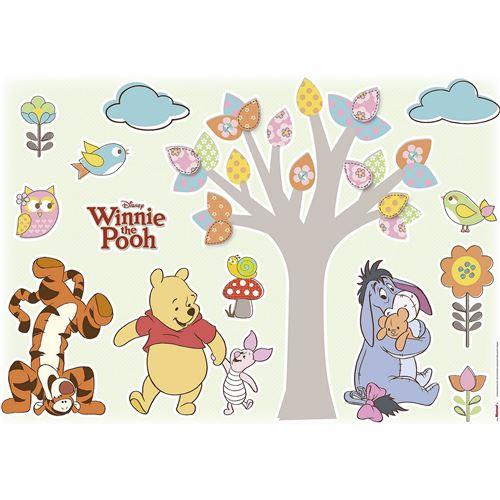 14 Stickers Winnie l'Ourson Disney