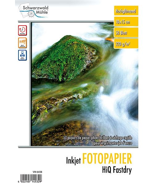 50 feuilles papier photo 10 x 15 cm brillant - 220 G