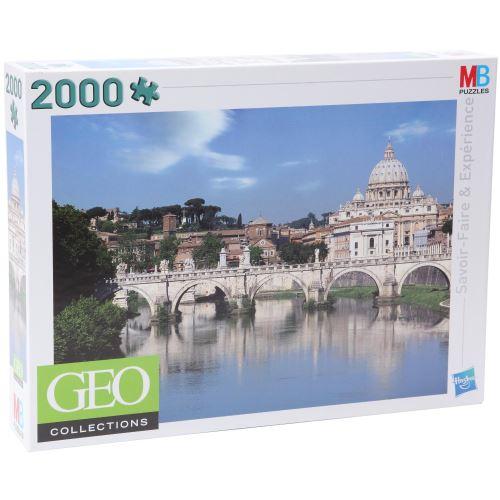 Hasbro - mb puzzles - 909582860 - puzzle 2000 pièces géo - basilique saint-pierre du vatican / italie