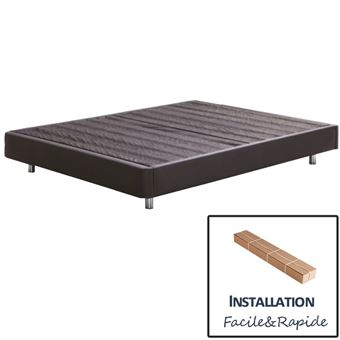 sommier lourini kit d montable america avec pieds 140x190. Black Bedroom Furniture Sets. Home Design Ideas
