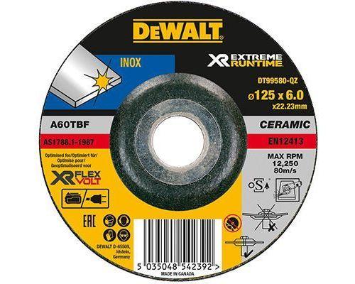 Disque à meuleur DEWALT INOX Ø125mm - 6mm - DT99580