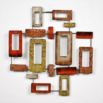 Décoration Murale Contemporaine Rectangles   Métal   L 52,5 X P 3 X H 53,5  Cm   Achat U0026 Prix | Fnac